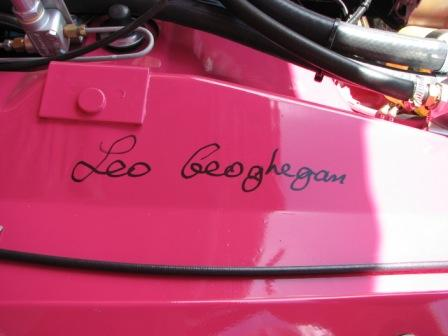 The E49 carries the autograph of Leo Geoghegan
