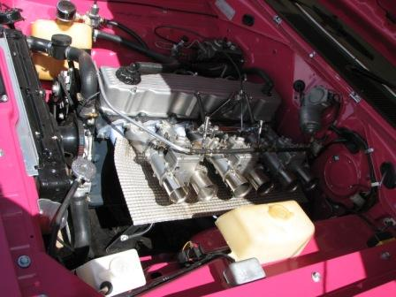 Tidy engine bay in an E49 Charger