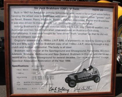 A little history of the Brabham Speedcar