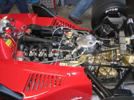 Engine in the Ferrari 156