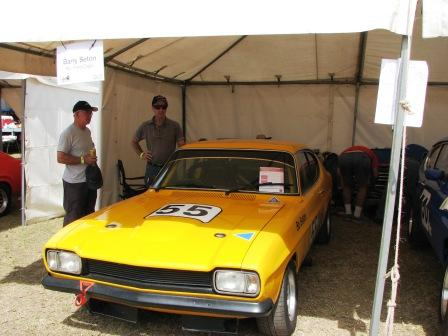Bo Seton on right with his Capri which broke on Friday and failed to start for the weekend