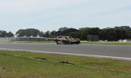 Sunoco 917 30 ex Mark Donahue car driven by Jim Richards at a fairly sedate pace