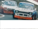Me leading Ken House in one of the ex Byan Byrt Ford Escorts circa 1986