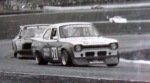 Robin Doherty chasing me at Winton in the ex Gary Rogers Torana