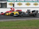 A line up of F5000s at the end of the Saturday for a promotional photo shoot